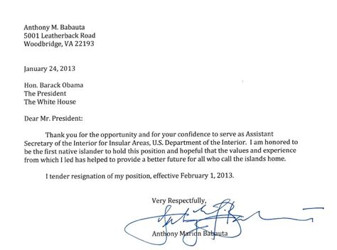 Thank You Letter Of Resignation highest ranking pacific islander in obama administration