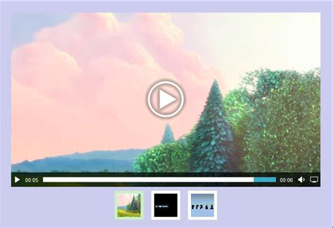 html5 video gallery templates