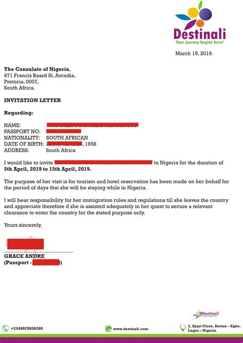 expedited nigerian visa processing letter invitation