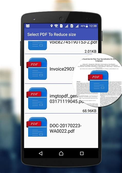 compress pdf android app compress pdf files size android apps on google play