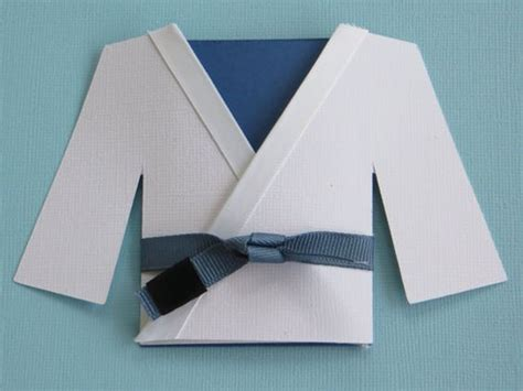 Origami Martial Arts - jiu jitsu martial arts gi blank card blank cards