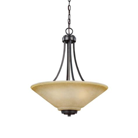 Indoor Pendant Lighting Sea Gull Lighting Havenwood 3 Light Chrome Indoor Pendant 6511903 05 The Home Depot