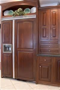 cabinet panel front refrigerator top cabinet front refrigerator on refrigerator wood panels