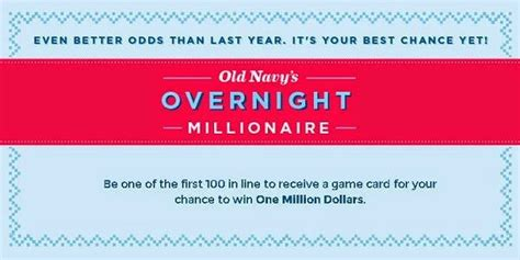 Old Navy Sweepstakes 2014 - old navy overnight millionaire sweepstakes sweepstakesbible
