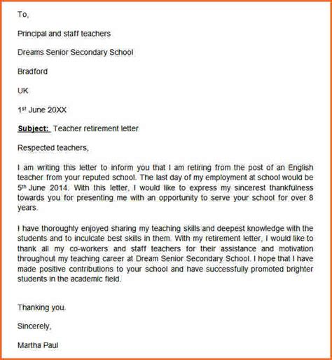 awesome collection of resignation letter for a preschool teacher