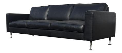 contemporary black leather sofa contemporary black leather sofa chairish