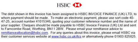 Notice Of Assignment Letter Of Credit stationery items hsbc uk