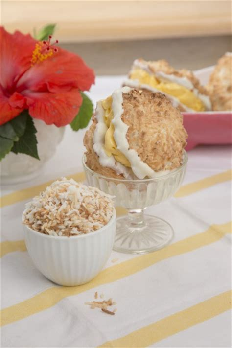Summer Of Sandwiches Coconut Macaroon Creme Brulee by Macaroon And Mango Sandwich Tasty Kitchen A