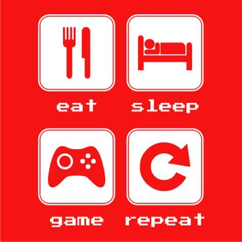 Eat Play Tv Sleep Kaos Gamers eat sleep repeat 2 juicebubble t shirts
