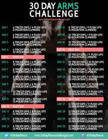 30 day arms challenge chart