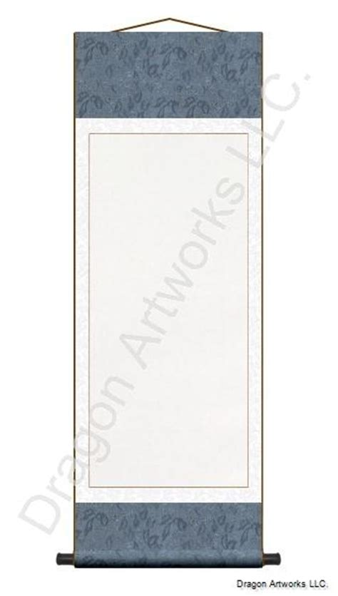 painting on blank paper slate blue and white blank paper scroll painting