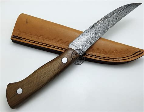 Handcrafted Kitchen Knives by Damascus Kitchen Knife Custom Handmade Damascus Steel Kitchen