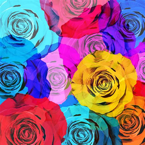 colorful roses colorful roses design photograph by setsiri silapasuwanchai