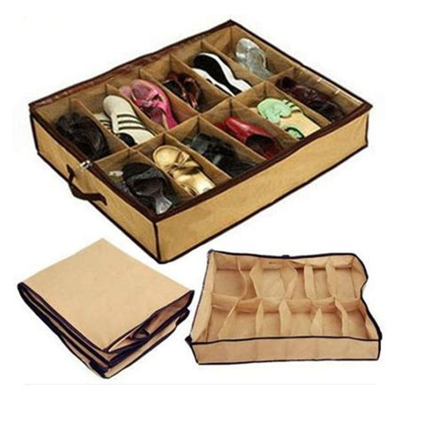 under bed shoe storage new women home 12 pairs shoe organizer storage box holder under bed closet ebay