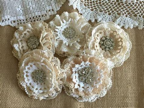 Handmade Lace Flowers - shabby chic lace handmade flowers 2250068 weddbook