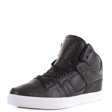 osiris shoes high tops mens osiris nyc 83 black black high top skate trainers