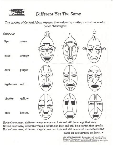 Masque Of The Worksheet by Masks Drawings For Search