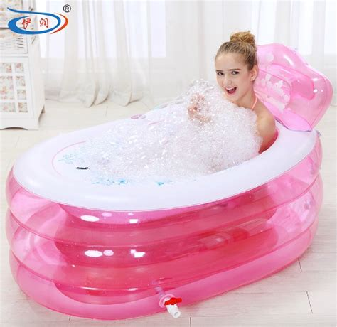 Collapsible Bathtub For Adults by Size 130 75 70cm With Thickening Bathtub