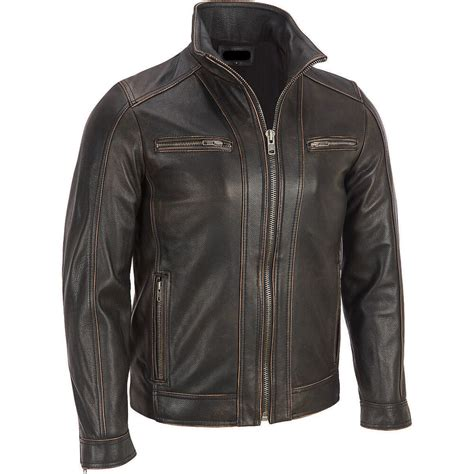 Is Cowhide Leather Real Leather - s black rivet leather faded seam jacket genuine