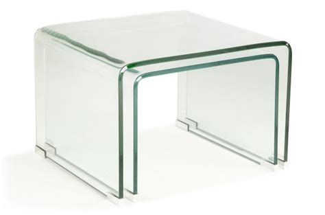 table basse gigogne en verre set 2 tables basses gigogne verre transparent otta table