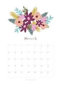 Calendar 2018 March Month Printable March 2018 Calendar Monthly Planner Flower