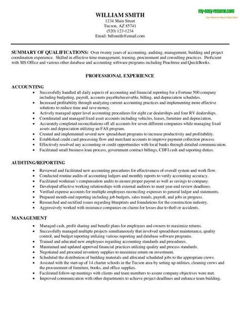 Accounting Resume Sample