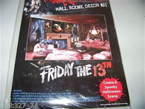 Friday 13th Decorations by 6 Pc Prop Wall Decor Kit Setter Friday The