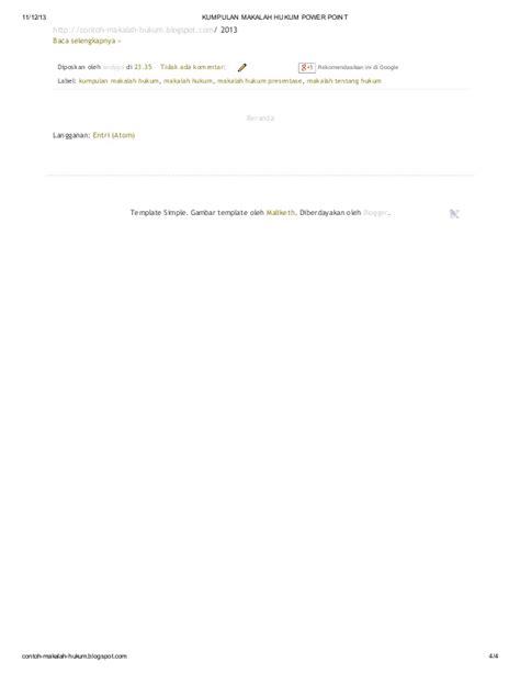 format makalah simpel kumpulan makalah hukum power point di blog http contoh