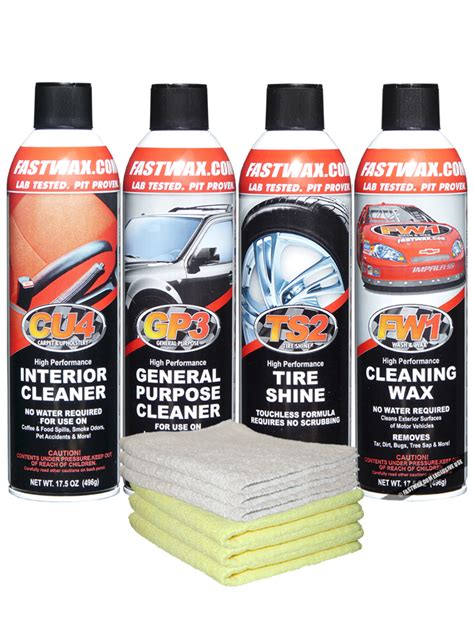 Cu4 Carpet Upholstery Cleaner by Waterless Detail Car Care System Kit Car Care Kit 132
