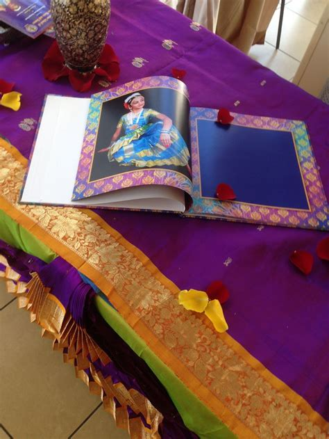 about decoration guest signing book at the arangetram bharatanatyam