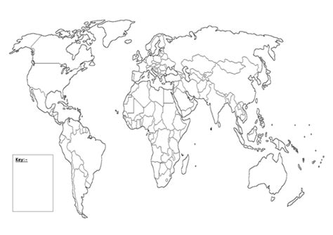 blank world map with key by queenpriscilla teaching