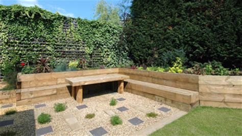Railway Sleepers Essex garden design loughton railway sleeper garden lougthon