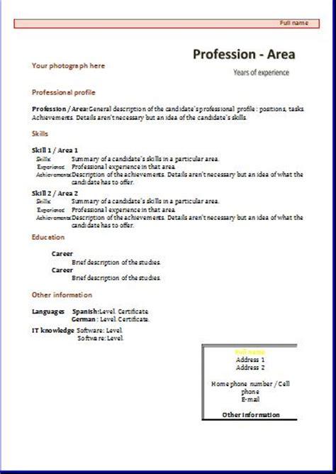 Functional CV: templates   Resume templates