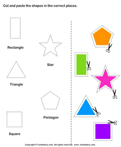 printable shapes cut and paste cut and paste activities cut and paste shapes worksheets