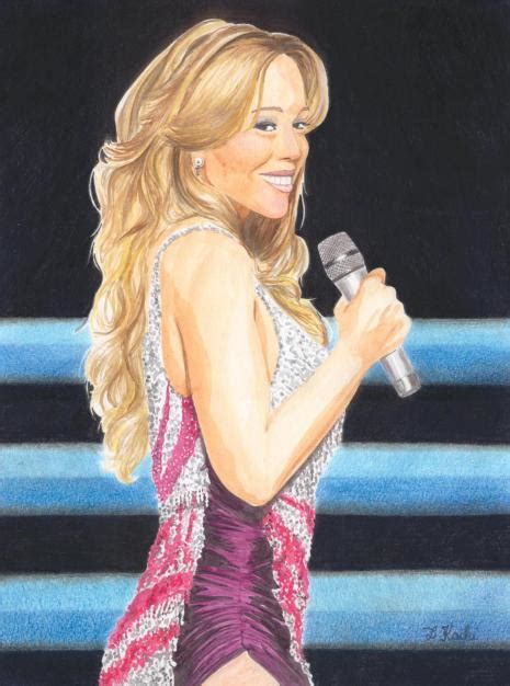 Contemporary Home Style mariah carey watercolour on paper delphine kacki