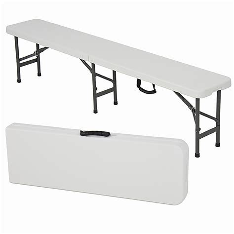 folding plastic bench plastic fold up table luxury bench 6ft folding bench