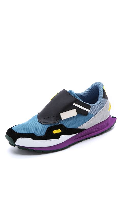 Raf Simons 19ss Shoes by Adidas By Raf Simons Raf Simons Formula One Sneakers In Blue For Sky Blue Lyst