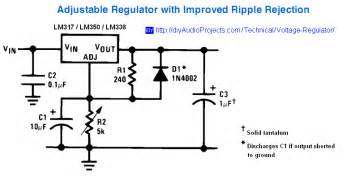 pin use a simple lm317 linear voltage regulator to supply