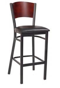 Metal Bar Stool With Back Interchangeable Back Metal Bar Stool With Solid Back