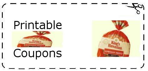 Printable Grocery Coupons Hawaii   kings hawaiian coupons printable grocery coupons