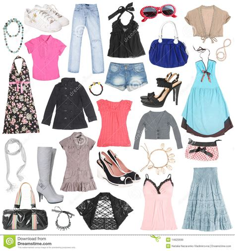 free clothes and shoes different clothes shoes and accessories stock