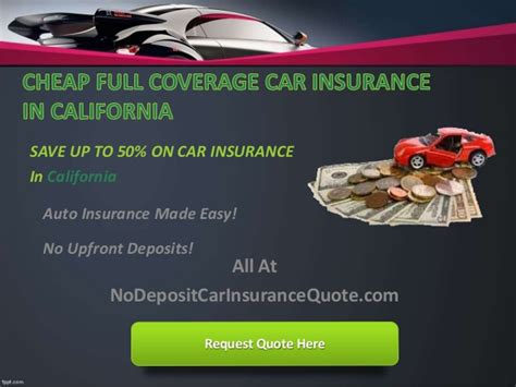 california cheap car insurance quote  full coverage