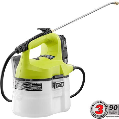 home depot battery paint sprayer ryobi one 18 volt lithium ion cordless chemical sprayer