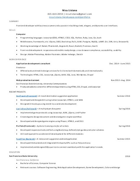 Icu Resume Exle by Nicu Resume Sle 28 Images Great Exle Nicu Resume Ideas