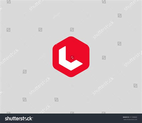 l design abstract letter l logo design template stock vector