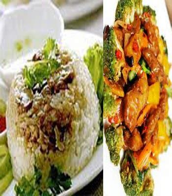 Hidangan Daging Serba Tim Kukus resep nasi tim kukus tumis jamur dan daging spesial area halal