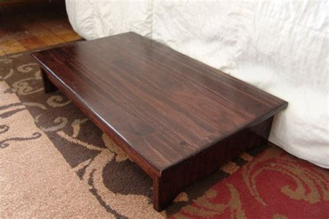 Cherry Wood Bed Step Stool by Handcrafted Heavy Duty Step Stool Solid Wood Bedside Bed