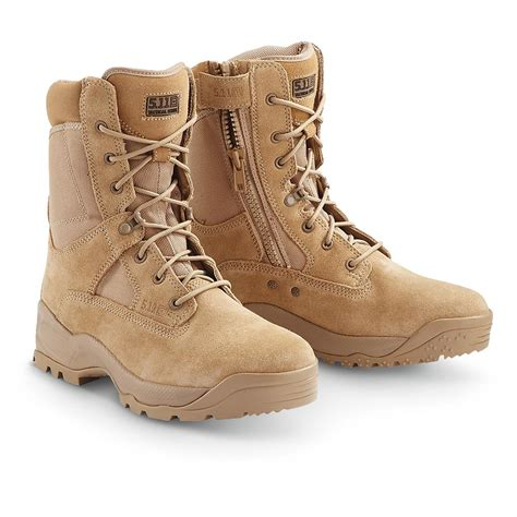 5 11 atac boots s 5 11 tactical 174 atac 8 quot side zip boots coyote