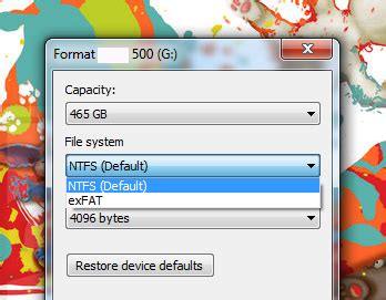 format exfat ps3 how to format an external hard disk to fat32 in windows 7