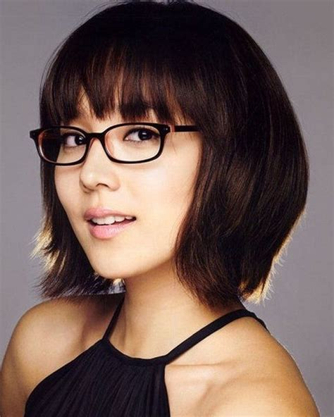 short hairstyles  women   faces  glasses